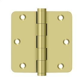 "3 1/2""x 3 1/2""x 1/4"" Radius Hinges - Polished Brass"