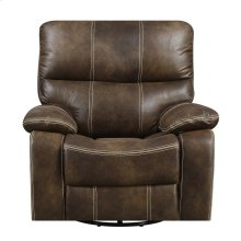 Emerald Home Jessie James Swivel Glider Recliner Chocolate Brown U7130-04-15