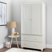 Storage Armoire With 2 Drawers - White Wash