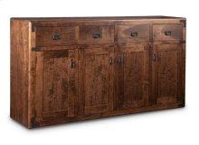 Saratoga Sideboard w/4 Wood Doors & 4/Dwrs & 3/Wood Adjust.