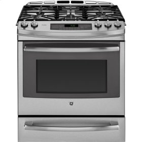 "30"" Slide In Single Oven Gas Convection Self-Cleaning Range"