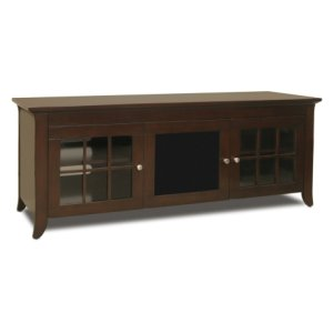 "Techcraft60"" Wide Credenza, Solid Wood and Veneer In A Walnut Finish, Accommodates Most 65"" and Smaller Flat Panels"