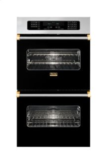 "30"" Double Custom Electric Touch Control Select Oven, Brass Accent"