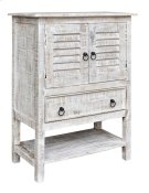 Bengal Manor Mango Wood 2 Door 1 Drawer White Wash Accent Chest Product Image