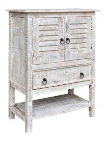 Bengal Manor Mango Wood 2 Door 1 Drawer White Wash Accent Chest
