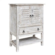 Bengal Manor Mango Wood 2 Door 1 Drawer White Wash Accent Chest