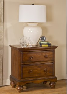Hamptons Nightstand - Dark Pine