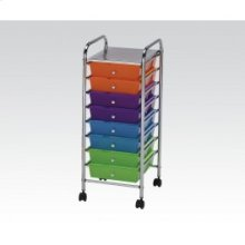 Storage Cart W/10 Drawers