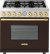 Additional Range DECO 36'' Classic Brown dual color, Gold 6 gas, gas oven