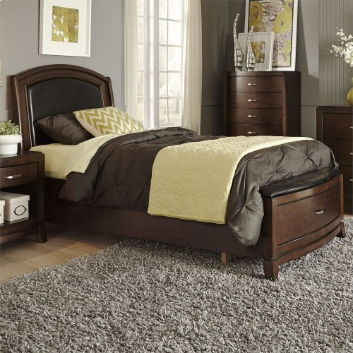 Twin Leather Storage Bed