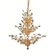2011 Orchid Collection Hanging Fixture Gold Finish