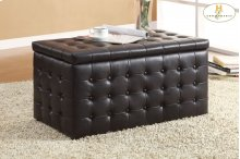 Lift-Top Storage Bench with Two Ottomans