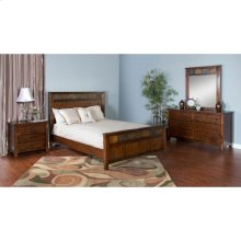 "Santa Fe Petite Queen Panel Bed 65.5"" X 88.4"" X 55""h"