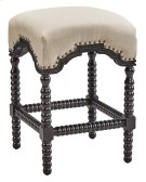 Black Backless Castle Counter Stool Product Image
