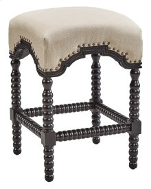 Black Backless Castle Counter Stool