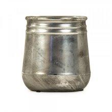 Distressed Metallic Vase