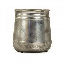Distressed Metallic Vase
