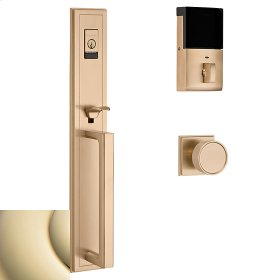 Lifetime Polished Brass Evolved Hollywood Hills Full Escutcheon Handleset
