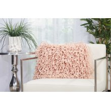 "Shag Dc105 Rose 14"" X 20"" Throw Pillow"