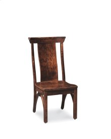B&O Railroade Trestle Bridge Side Chair, Wood Seat, Character Cherry Olde World #35-B2