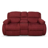 Hali Double Reclining Loveseat Console 2010-85 Product Image