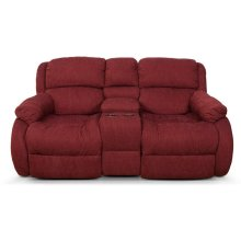 Hali Double Reclining Loveseat Console 2010-85