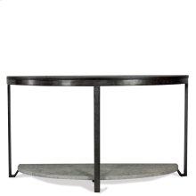 Demilune Sofa Table - Weathered Worn Black Finish