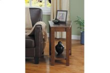 Wedged Chairside Table, Espresso