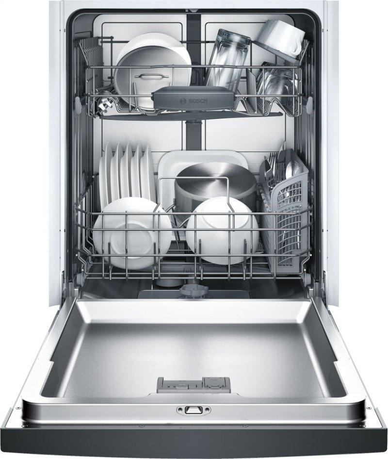 24 Recessed Handle Dishwasher Ascenta Series Black She3arf6uc