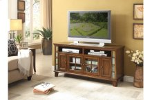 """60"""" TV Stand with Slate Decor"""