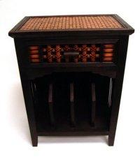 Safari Wooden Dresser w/Wine Rack-19.75x12.5x27.25 Product Image