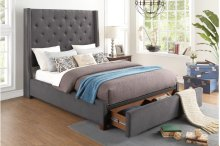 Full Platform Bed with Storage Footboard