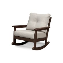Mahogany & Cast Ash Vineyard Deep Seating Rocking Chair