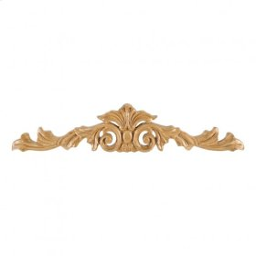 "15-1/4"" x 1/2"" x 3-1/4"" Hand Carved Acanthus Onlay, Species: Cherry"