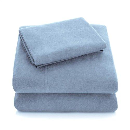 Portuguese Flannel - King Pillowcase White