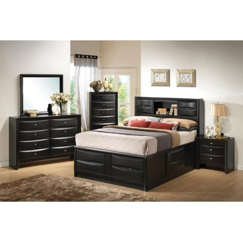 Briana Transitional Black California King Five-piece Bedroom Set