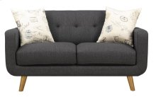 Emerald Home Remix Loveseat W/2 Accent Pillows Charcoal U3789m-01-13