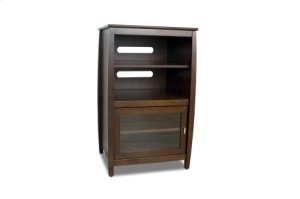 """40"""" High Multimedia Tower, Solid Wood and Veneer In A Walnut Finish, Accommodates Up To 4 A/v Components"""
