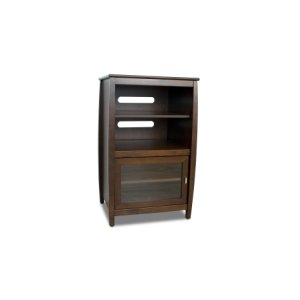 """Techcraft40"""" High Multimedia Tower, Solid Wood and Veneer In A Walnut Finish, Accommodates Up To 4 A/v Components"""