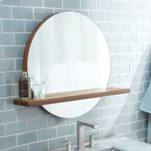 "22"" Solace Mirror with Shelf in Woven Strand Bamboo"