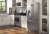 Additional Frigidaire Professional 4pc. Stainless Steel kitchen package with 22.6 cu.ft. counter depth dispensing French door fridge and front control convection gas range