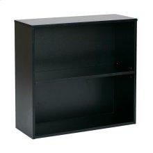 "Prado 30"" 2 Shelf Bookcase, 3/4"" Shelf Black"