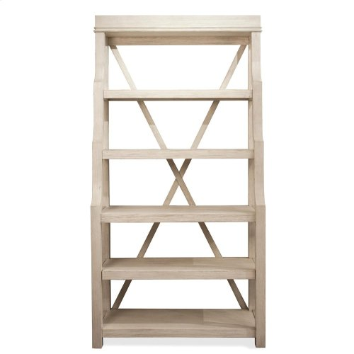 Aberdeen - Open Display Cabinet - Weathered Worn White Finish