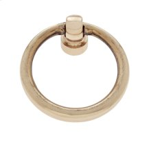 "Polished Brass 1-1/2"" Ring Pull"