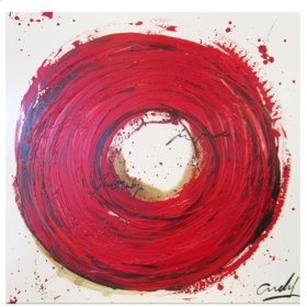 """Oil Painting """"Red Circle"""""""