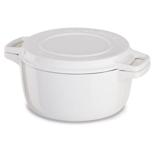 KitchenAid® Professional Cast Iron 4-Quart Casserole - Almond Cream