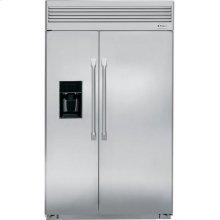 "GE Monogram® 48"" Built-In Side-by-Side Refrigerator with Dispenser"