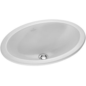 Drop-in washbasin (oval) Oval - White Alpin CeramicPlus