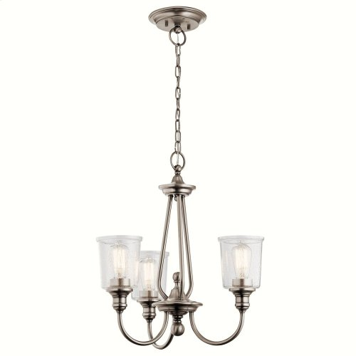 Waverly 3 Light Chandelier Classic Pewter