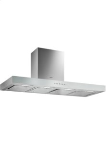 Wall-mounted hood 200 series AW 241 120 Stainless steel with aluminium control panel Width 120 cm Air extraction/recirculation